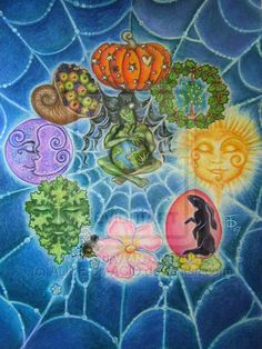 """Wheel of the Year:  """"The #Wheel #of #the #Year,"""" by ALICE-on-ACID, at deviantART."""