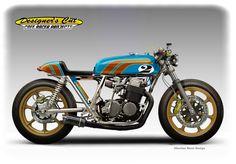 HONDA CB 750  GLITTER BOY Cafe Racer by obiboi.deviantart.com on @deviantART