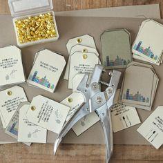 . 招待状の手作りは無理やと分かっていたので、付箋だけ手作り◎ #ハトメパンチ でとめると可愛さが増す気がします╭( ・ㅂ・)و ̑̑ グッ ! そしてアースカラーな紙ばっかり買ってしまう笑 #発送前やけど気にせず載せちゃう Soap Packaging, Packaging Design, Diy And Crafts, Paper Crafts, Thanks Card, 30th Birthday Parties, Diy Christmas Gifts, Jewellery Display, Diy Wedding