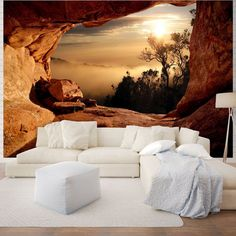 Large selection of giant size wall murals. More than 1000 wallpapers & Full wall size photo murals, Canyon view Non-woven wallpaper, paper wallpapers and many more. 3d Wall Murals, Floor Murals, Bedroom Murals, Room Wallpaper, Photo Wallpaper, Interior And Exterior, Interior Design, Photo Mural, Home And Deco