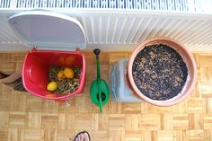 Getting started with urban composting -- composting you can do in an apartment! In a city! On a train! In the rain!