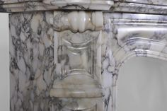 Details of a #LouisXV #style #Pompadour #fireplace in a Breccia veined #marble #frenchantiques #interiordecoration #interiordesign #decor #19thcentury #antique #french Available on #MarcMaison website