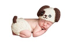 Pinbo Newborn Baby Costume Animal Puppy Hat Shorts Photo Photography Prop Outfits