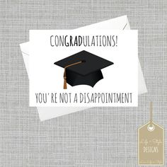 Funny Graduation CardGraduation by LifeandStyleDesigns on Etsy
