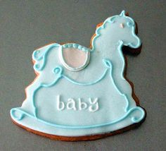 C0059 baby rocking horse christening & baby shower gift - a photo ...