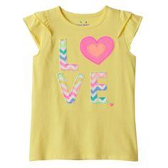 Girls 4-7 Jumping Beans® Applique Flutter Tee