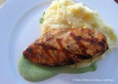 Bahama Breeze Grilled Chicken with Cilantro Crema from Mary Ellen's Cooking Creations.  Similar to the Bahamas Breeze dish