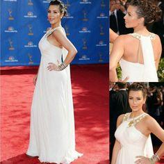 Modern Halter White Sheath Long Sash Pleated Sweep Train Celebrity Dress Red Carpet Gown on AliExpress.com. $160.00