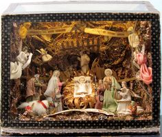 Vintage Nativity diorama