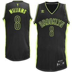 adidas Brooklyn Nets Deron Williams NBA Fashion Electricity Swingman Jersey  - Black 50a23710b