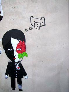 street art & graffiti Paris - Fred le chevalier    #streetart