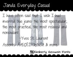 Janda Everyday Casual font by Kimberly Geswein Fonts.    Free for personal use.  Please pay for commercial use.