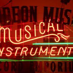 Musical neon lettering