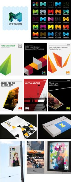 Brand identity by Landour for the City of Melbourne