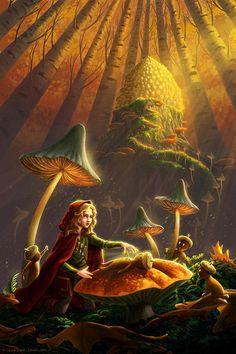 From Acorns Print Fantasy Fine Art Nursery Children's
