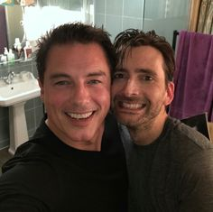 John Barrowman and David Tennent