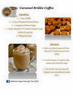 Caramel Brulee Coffee Keurig Recipes, Caramel Ingredients, Coffee K Cups, Whipped Cream, Brown Sugar, Brewing, Wicked, Vanilla, Fruit