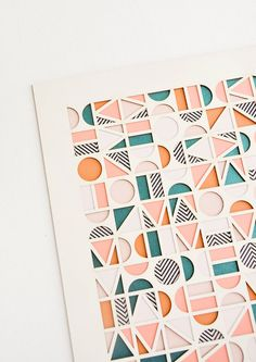 Grafik Module Geometric Laser Cut Artwork by Molly M Designs Fashion Design Inspiration, Inspiration Art, Creative Inspiration, Design Graphique, Art Graphique, Shape Design, Art Design, Motif Design, Cut Out Design