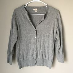 J.Crew Grey Scoop neck cardigan Great condition was only gently worn a few times so no flaws! The cardigan will be steamed before sending as well! J. Crew Sweaters Cardigans