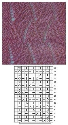 Long Cardigan in Honeycomb Pattern, Lace Knitting Patterns, Knitting Charts, Lace Patterns, Easy Knitting, Knitting Stitches, Stitch Patterns, Crochet Chart, Knit Crochet, Knit Stitches For Beginners