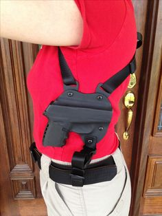 Kydex shoulder holster for Sccy 9mm. By JC Custom Kydex of Ky. (my SCCY would look sweet in that holster)