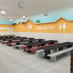 Kindergarten Interior, Kindergarten Design, Daycare Design, Kids Room Design, School Building Design, School Design, Commercial Interior Design, Commercial Interiors, Cafeteria Design