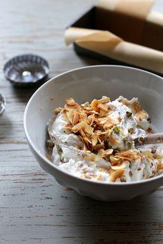 Vegan Coconut and Pistachio Ice Cream