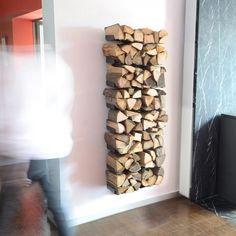 Wooden Tree Firewood Shelf   Radius   AmbienteDirect.com