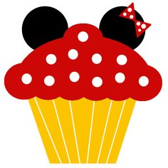 Minnie and Mickey Cupcakes Free Printable Notebook. Mickey Party, Mickey Mouse Birthday, Mickey Minnie Mouse, Mickey Cupcakes, Birthday Cupcakes, Pastel Mickey, Cupcake Clipart, Cupcake Template, Cupcake Illustration