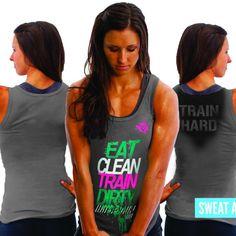 """Women's ViewSPORT """"Eat Clean Green"""" Regular Tank"""