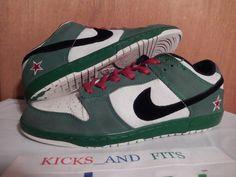 a5c63b0913fde Nike SB Dunk Heineken Low sz 11 2003 304292-302 Rare OG VTG Green White Red   Nike  AthleticSneakers
