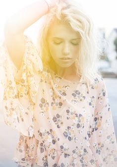 Secluded Meadow Floral Top