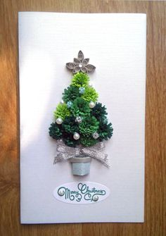 Best 12 Beautiful handmade quilled Christmas card with a paper quilling Christmas tree. The card is perfect for sending special Christmas wishes to someone you love. On the front of the card there is cute quilled pine tree, which is decorated, just li Homemade Christmas Cards, Christmas Tree Cards, Diy Christmas Ornaments, Christmas Wishes, Handmade Christmas, Holiday Cards, Christmas Crafts, Etsy Christmas, Elegant Christmas