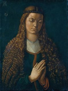 Albrecht Dürer - Portrait of a Young Woman, 1497, Watercolour on unprimed linen, 56.3 x 43.2 cm | Städel Museum, Frankfurt (Germany)
