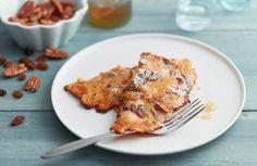 Pompoen pannenkoeken met wortel en noten