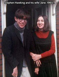 Young Stephen Hawking.