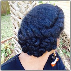 Natural Hair/Asymmetric Flattwist Protectivestyle Updo https://youtu.be/E5FfQ7mPdOc