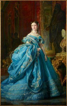 """Vicente PALMAROLI, """"Retrato de Doña María Isabel de Borbón y Borbón, Infanta de España, XXXIª Princesa de Asturias, luego Condesa de..."""