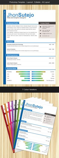 Info-graphic Resume V-II Traditional, Be simple and Something new - reference sheet for resume