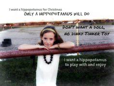 Christmas 2012 shoot /I want a Hippopotamus for Christmas (Madi)