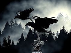 Huginn and Muninn - Odin's ravens - no goth ones - but ..... ravens