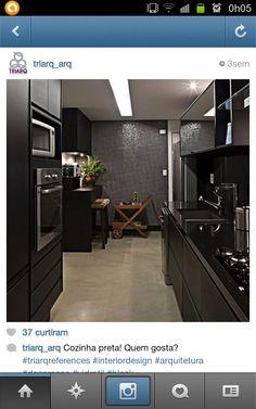 Dream Kitchens, Mont Blanc, Kitchen Black, Black Kitchens, Art Interiors,  Architecture Interiors, Minimalist Decor, Akira, Santa Cruz