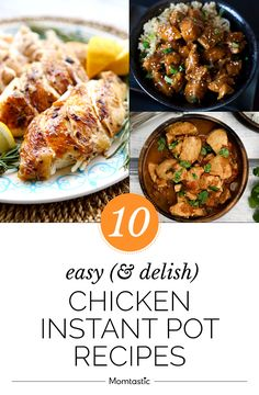 Whip up one-pot meals in minutes with these chicken instant pot recipes. Snack Recipes, Dinner Recipes, Cooking Recipes, Snacks, One Pot Meals, Main Meals, Pressure Cooker Recipes, How To Cook Chicken, Instant Pot