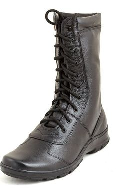 """Military Boots Russian Army Ankle Boots Babek Natural Chrome Leather """"Flatter"""" #Babek #Military"""