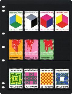 Stamps    First row is designed by otto treumann