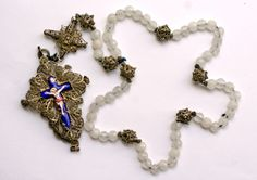 Silver filigree rosary with a relic chamber, made in Germany, early 1700's