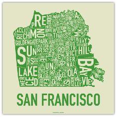San Francisco word map
