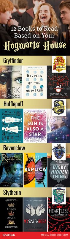 Books to Read Based on Your Hogwarts House If you love the Harry Potter books, check out these books to read based on your Hogwarts House!If you love the Harry Potter books, check out these books to read based on your Hogwarts House! Books And Tea, Ya Books, I Love Books, Good Books, Books To Read, Teen Books, Book Suggestions, Book Recommendations, Reading Lists