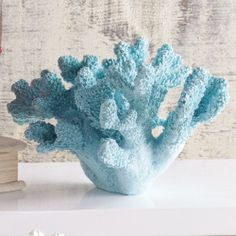Faux coral is sculpted and colored to match authenic sealife.