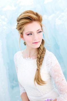 Disneys Frozen themed wedding hair